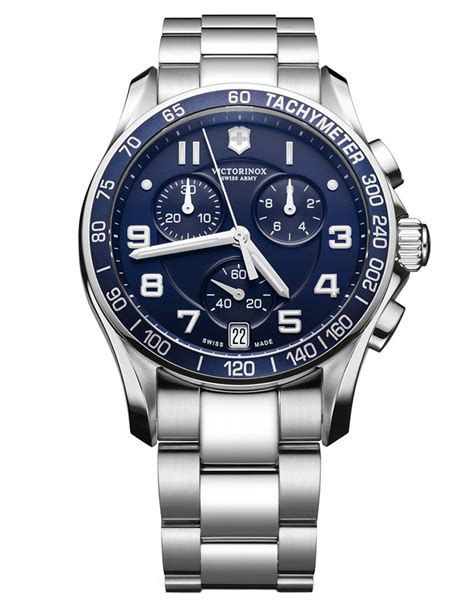 victorinox mens chronograph classic xls in metallic