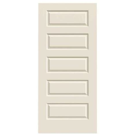home depot jeld wen interior doors jeld wen 36 in x 80 in smooth 5 panel primed molded interior door slab thdjw137400021 the