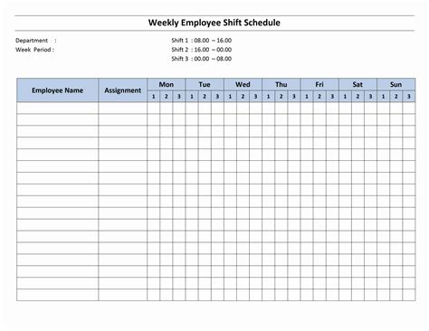 10 hour shift templates 8 hour shift schedule open office templates