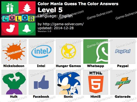 guess the color answers color mania guess the color level 5 solver