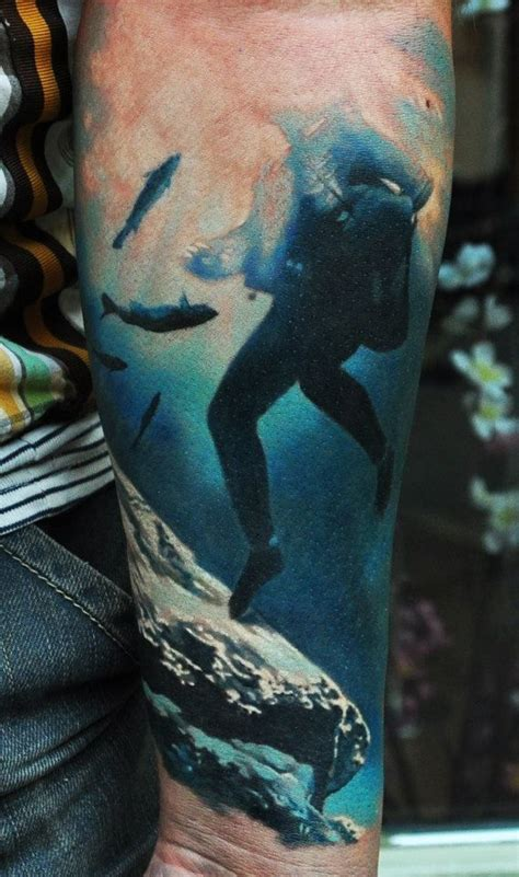 scuba tattoos 40 amazing water designs hyper realistic