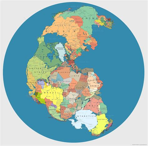 Good Earth Garden Center by Map Of Pangea With Current International Borders Mental