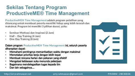 Brainwave Manajemen Waktu Time Management pelatihan manajemen waktu productiveme 174 time management