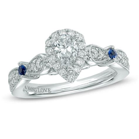 vera wang love collection 5 8 ct t w pear shaped diamond