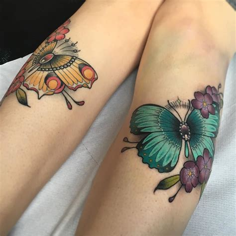 pair tattoos not a fan of butterfly tattoos usually but these are