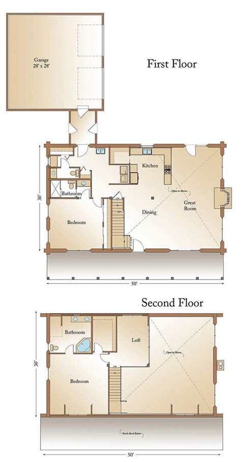 real log homes floor plans montana cabin floor plan by real log homes