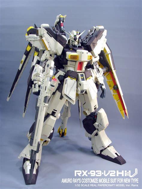 Papercraft Gundam - gundam gundam papercraft 1 32 rx 93 v2 hi v gundam
