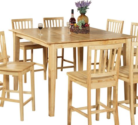 Light Wood Kitchen Table Steve Silver Branson Counter Height Table In Light Wood With Leaf Traditional Dining Tables