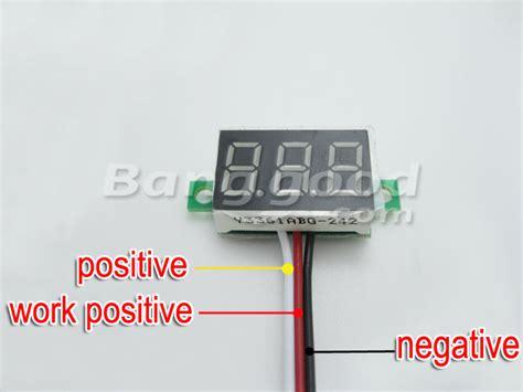 Volt Meter Digital Orange Led Dc 0 32v mini dc 0 32v 3 digital led display voltmeter us 2 44