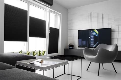 minimalist one room apartment masculine black and white apartment spiced up with