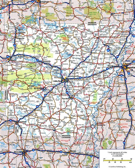 road map arkansas usa large detailed roads and highways map of arkansas state