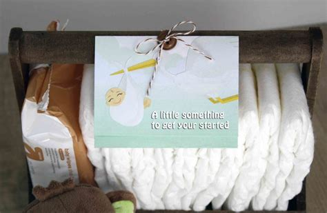 Diaper Gift Card - free printable gift card holder for new baby diaper fund