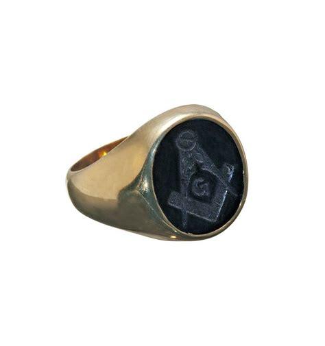 black onyx black onyx masonic engraved gold plated sterling silver