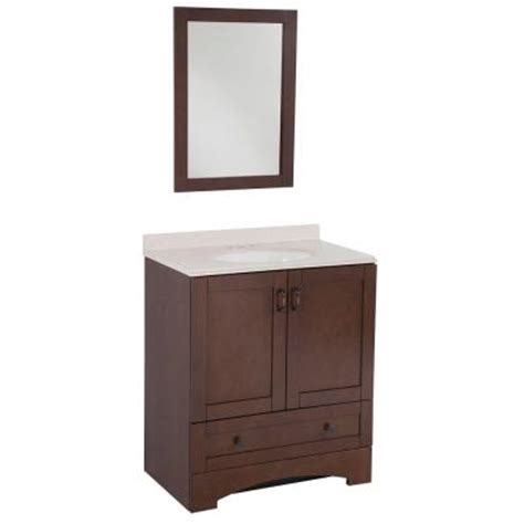 Glacier Bay Bathroom Vanity by Glacier Bay Cordova 31 In Vanity In Auburn With