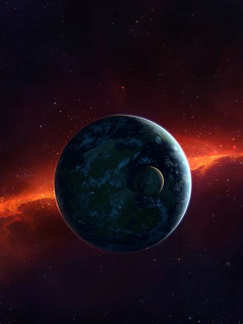 wallpaper planets cosmos galaxy  space