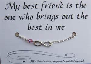 Friendship Infinity Quotes Best Friend Infinity Charm Bracelet A By