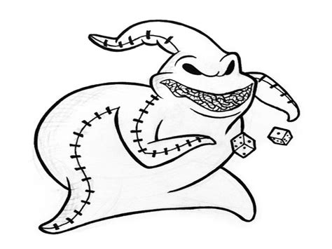 nightmare before christmas coloring pages oogie boogie nightmare before christmas coloring pages oogie boogie