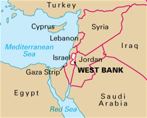 middle east map west bank west bank howstuffworks