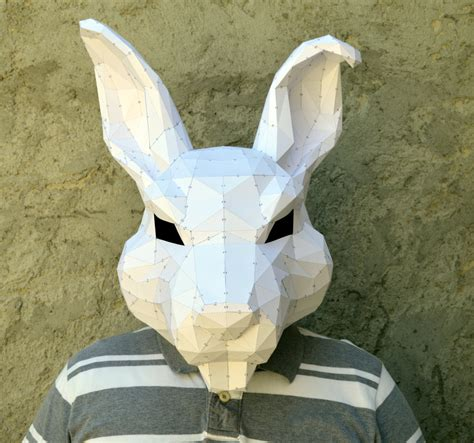 Papercraft Costumes - make your rabbit mask papercraft rabbit papercraft mask