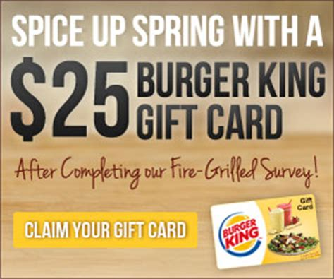 Burger King E Gift Card - free 25 burger king gift card