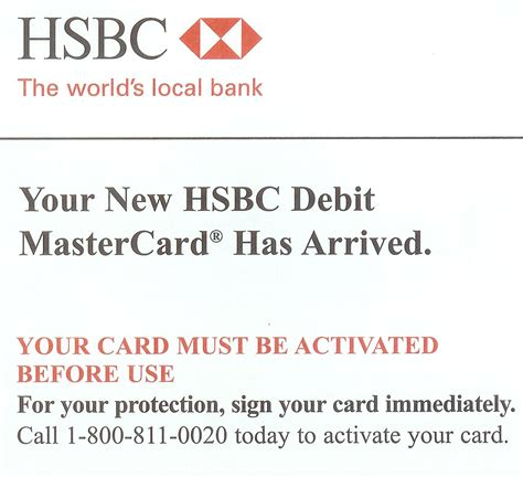 Credit Card Activation Letter To Bank Hsbc Sends Activated Debit Cards Through Mail