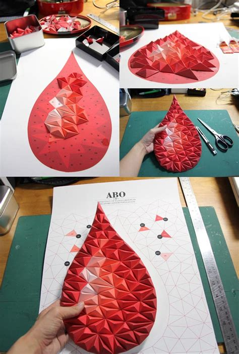 tangible papercraft infographic posters by siang ching