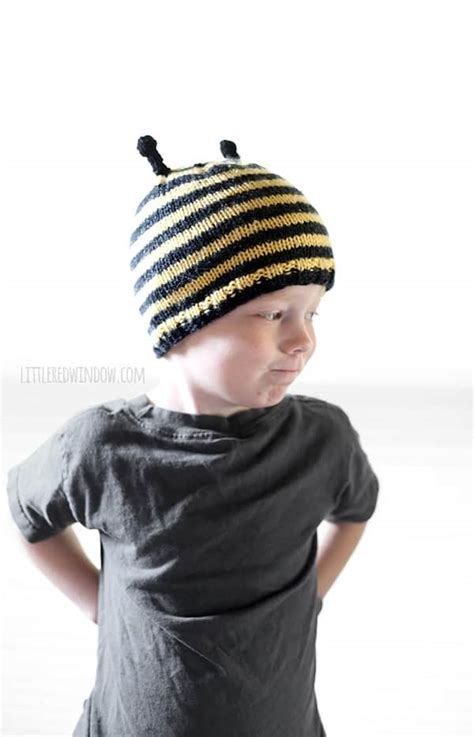 Bee Knit Hat busy bee hat knitting pattern window