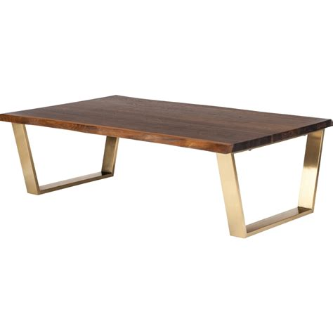 gold and wood coffee table nuevo modern furniture hgsr486 versailles coffee table w