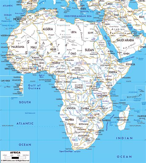 map of africa countries map of major cities in africa map of africa
