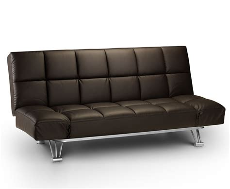 sofa bed clic clac uk manhattan 110cm brown faux leather clic clac sofa bed