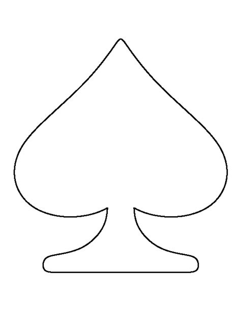 deck of cards club template spade pattern use the printable outline for crafts