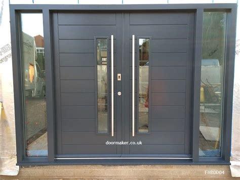 contemporary double door exterior contemporary front doors oak iroko and other woods bespoke