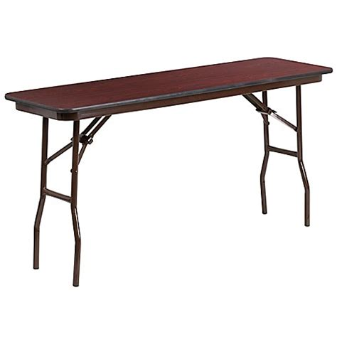 5 Foot Folding Table Buy Flash Furniture 5 Foot Rectangular Melamine Folding Table In Mahogany From Bed Bath Beyond