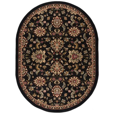oval rugs 5x8 tayse rugs laguna charcoal 5 ft 3 in x 7 ft 3 in oval indoor area rug 4593 charcoal 5x8 oval