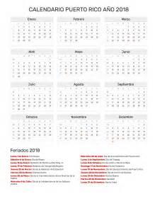 Calendario 2018 Con Feriados Calendario A 241 O 2018 Feriados