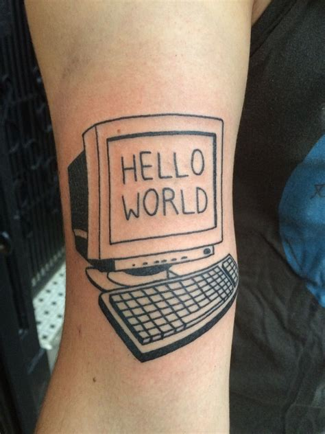 black square tattoo quot hello world quot by louis brengard black square