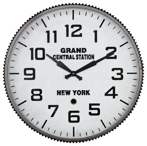 aspire quot grand central station quot wall clock reviews houzz