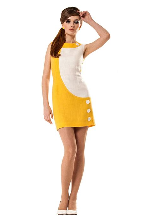 Dress Marmalade marmalade retro mod linen fitted mini dress with buttons