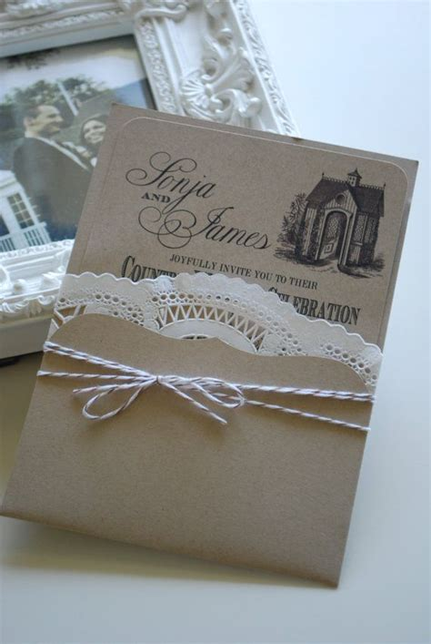 bakers twine wedding invitations slide invite into a pocket tie with baker s twine on our way to the altar