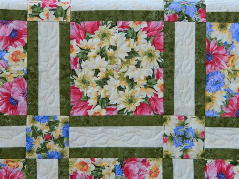 Posie Patchwork - four patch posy quilt finished
