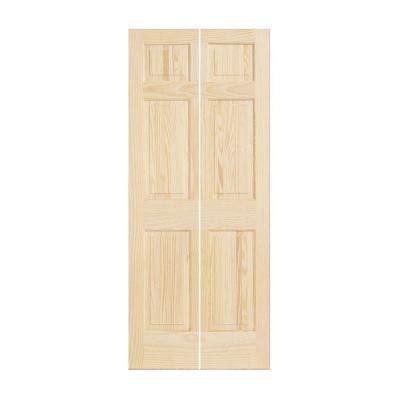 solid bifold closet doors jeld wen 36 in x 80 in woodgrain 6 panel solid pine wood interior closet bi fold door