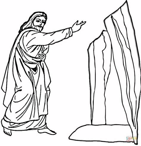 coloring page jesus and lazarus lazarus coloring page free printable coloring pages
