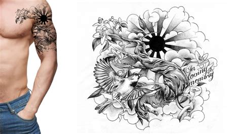 handcrafted tattoo sleeve drawings designs www imgkid the
