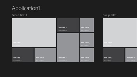xaml layout exles c how to do xaml template like bing app for windows 8