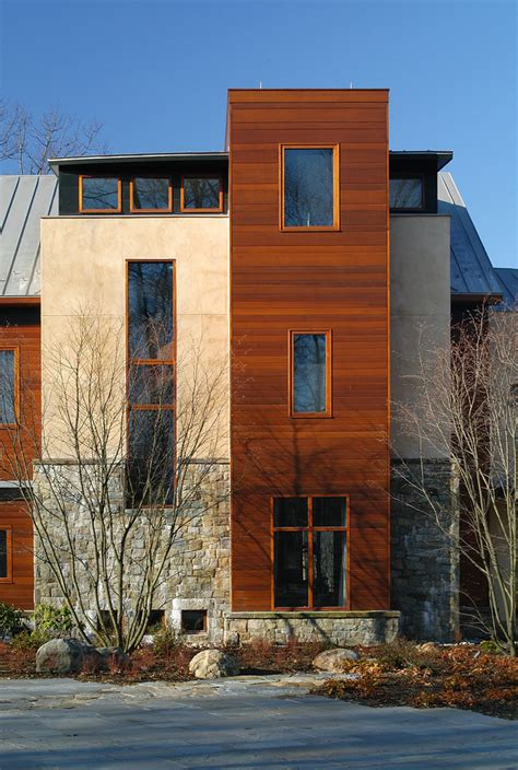 Residential elevator cost exterior modern with stone exterior cedar siding themonumentview net