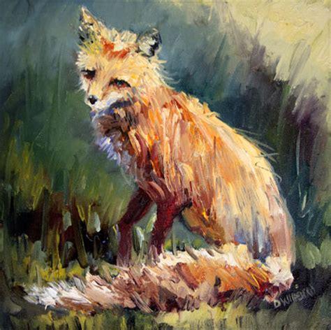 painting animals wildlife of the west fox animal painting