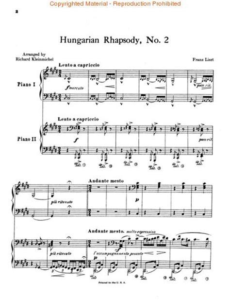 Hungarian Rhapsody 2 Partition Piano