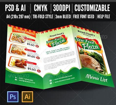restaurant brochure templates free and premium food and restaurant menu brochure