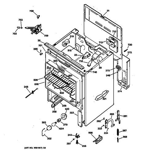 hotpoint oven parts diagram hotpoint electric range parts model rb787wb1ww