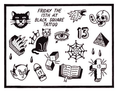 friday the 13th black square tattoo brokelyn
